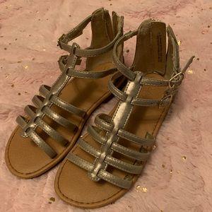 Cat & Jack gold gladiator sandals, size 11, EUC